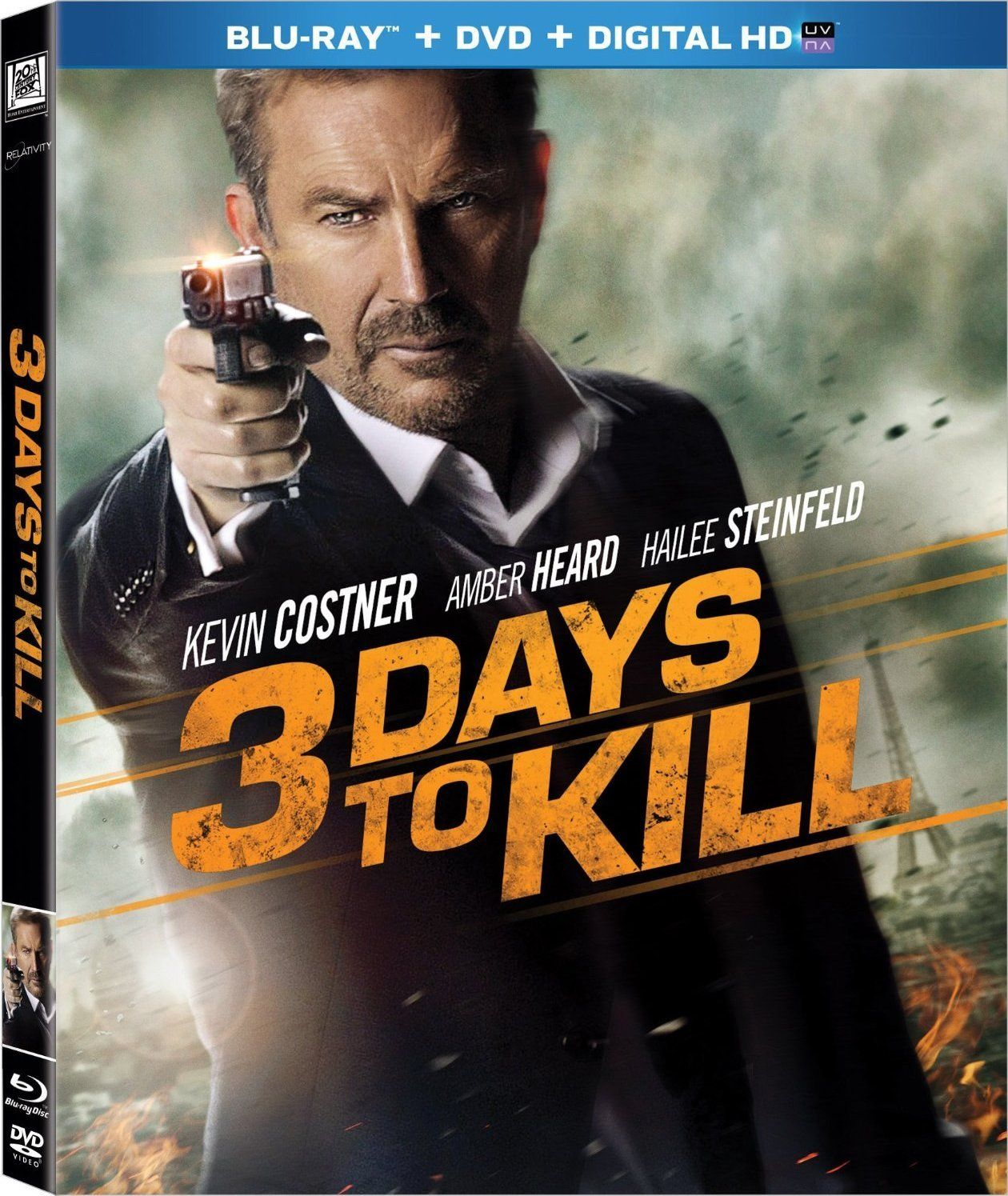 3 Days to Kill Bluray Release Date May 20, 2014 (Bluray