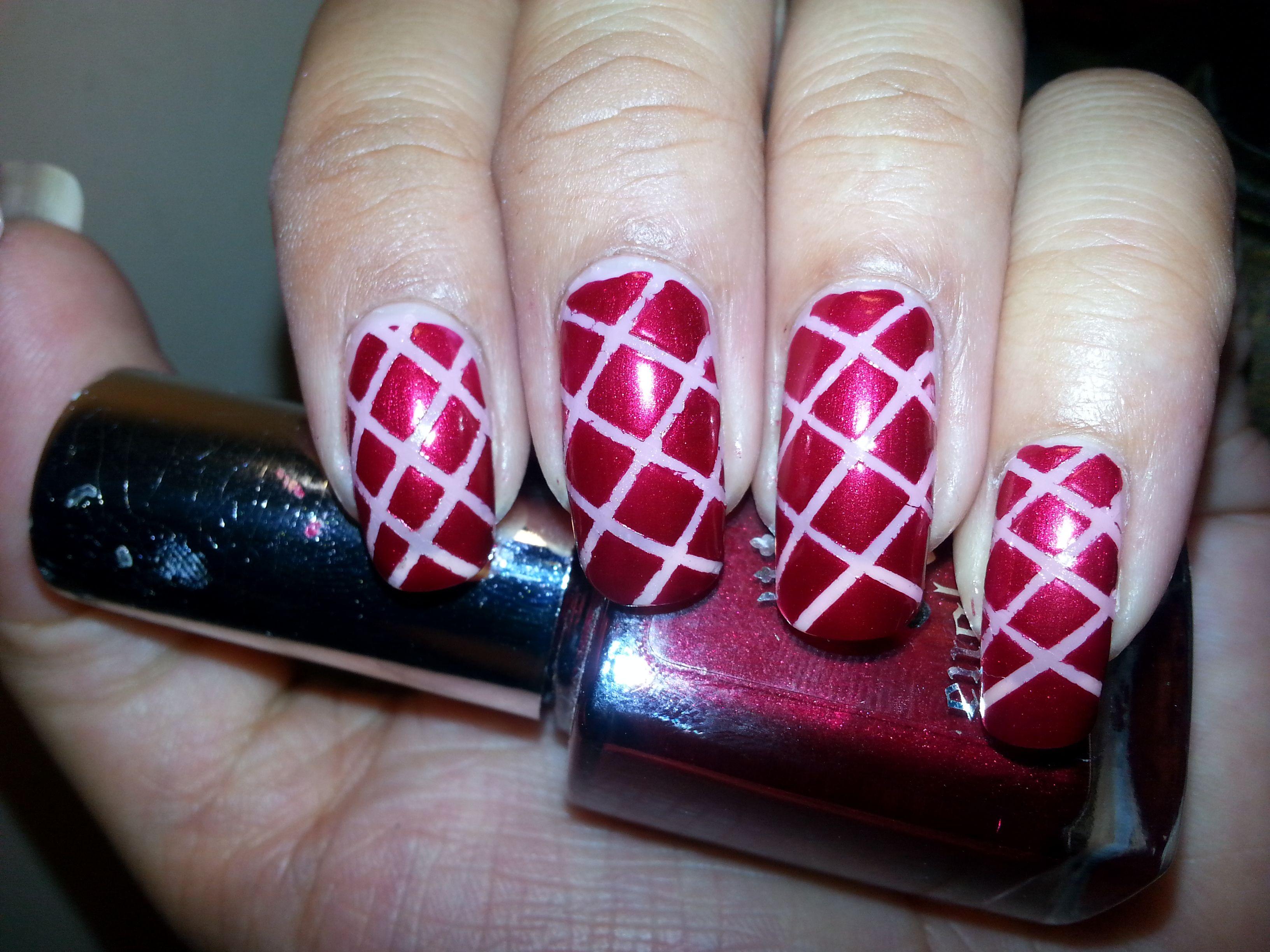 Diy striping tape nail art nailtutorial nailcollage