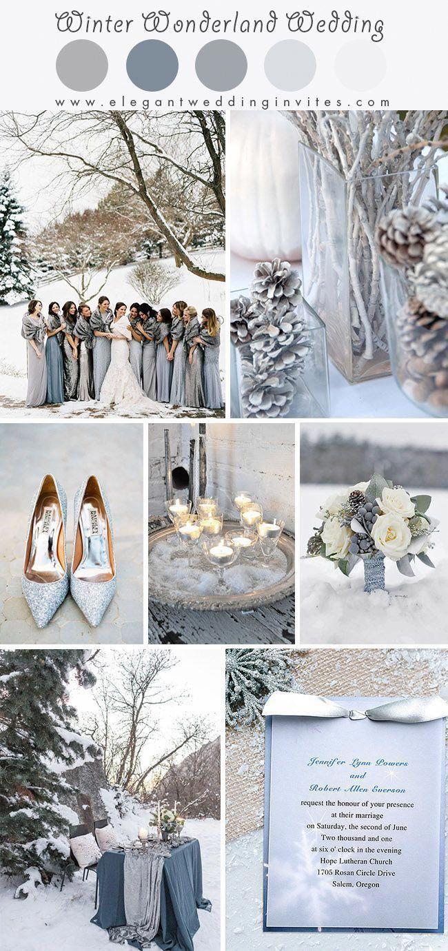 Glimmering Winter Wonderland Wedding Ideas In Shades Of Silver And Blue Elegantweddinginvites Com Blog In 2020 Blue Winter Wedding Winter Wonderland Wedding Winter Wedding Colors