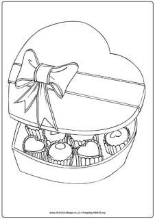 Make a coloring page of different kinds of Boxes (Treasure