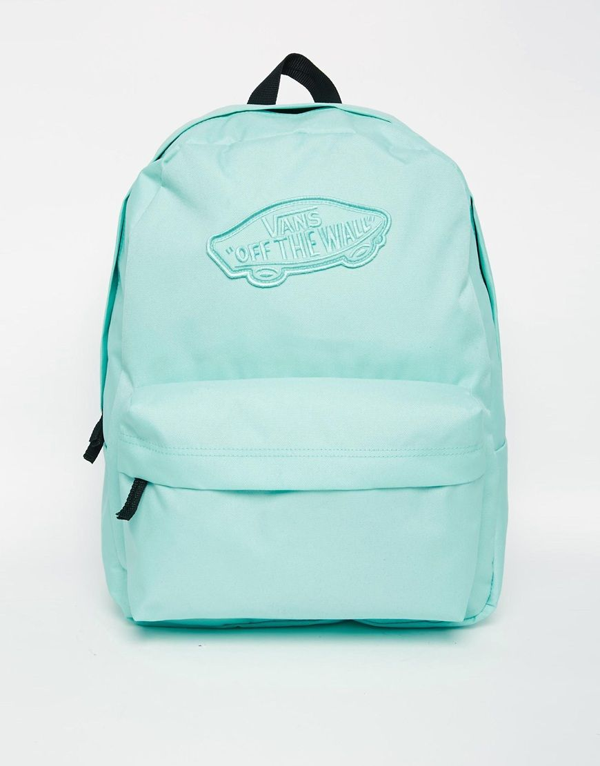 d1ff3cc4580 Image 1 of Vans Realm Backpack in Green | Bags | Vans backpack girls ...