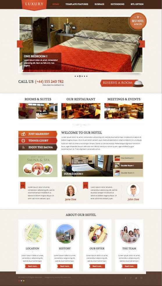 JM Hotel Joomla Restaurants Template Joomla Templates - ngo templates