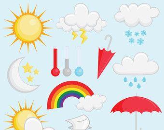 weather digital clipart for teachers clouds clipart sun clipart rh pinterest ca Educational Clip Art for Teachers Superhero Clip Art for Teachers
