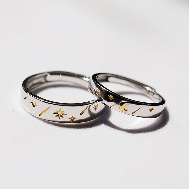 Phospher S925 Silver Retro Style Minimalist Diamond Ring 6