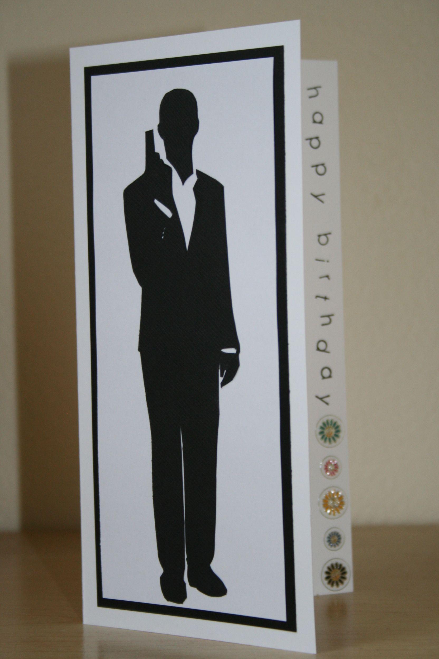 Birthday Card For James Daniel Craig Bond Fan Birthday Cards Cards Card Making