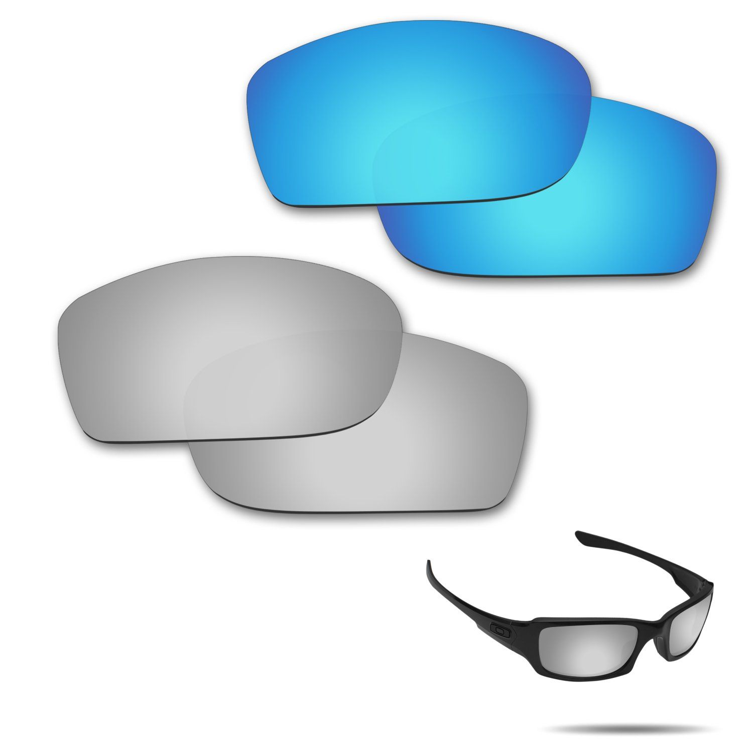 Fiskr Antisaltwater Polarized Replacement Lenses for