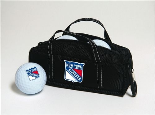 New York Rangers Mini Hockey Bag with Golf Balls by Hockey Stick Putter.  Buy it @ ReadyGolf.com
