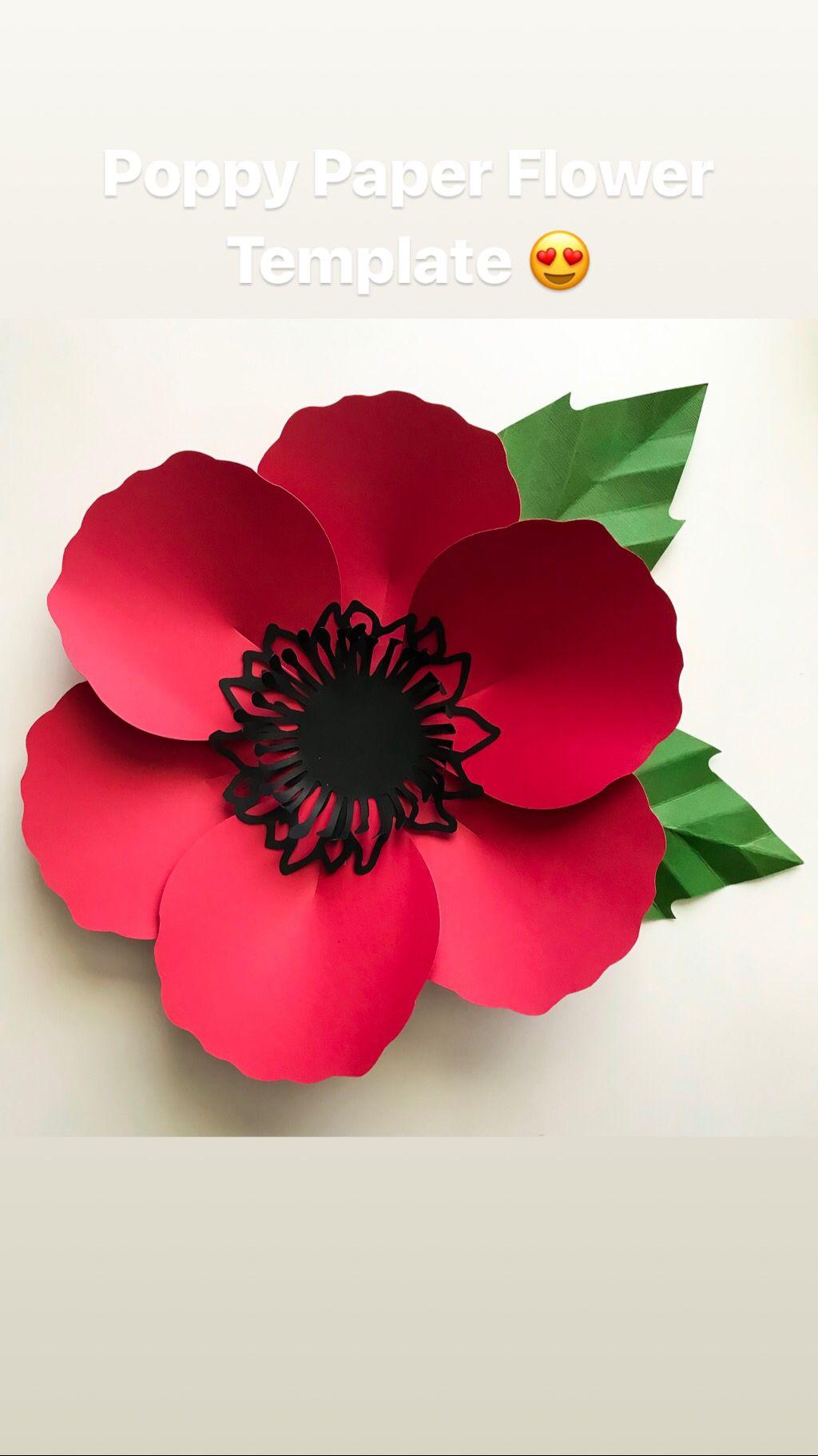 Poppy Flower Paper Flower Templates From The Crafty Sagittarius