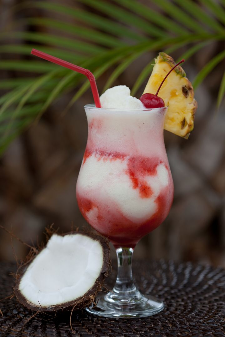 Haiku colada malibu rum pineapple and coconut