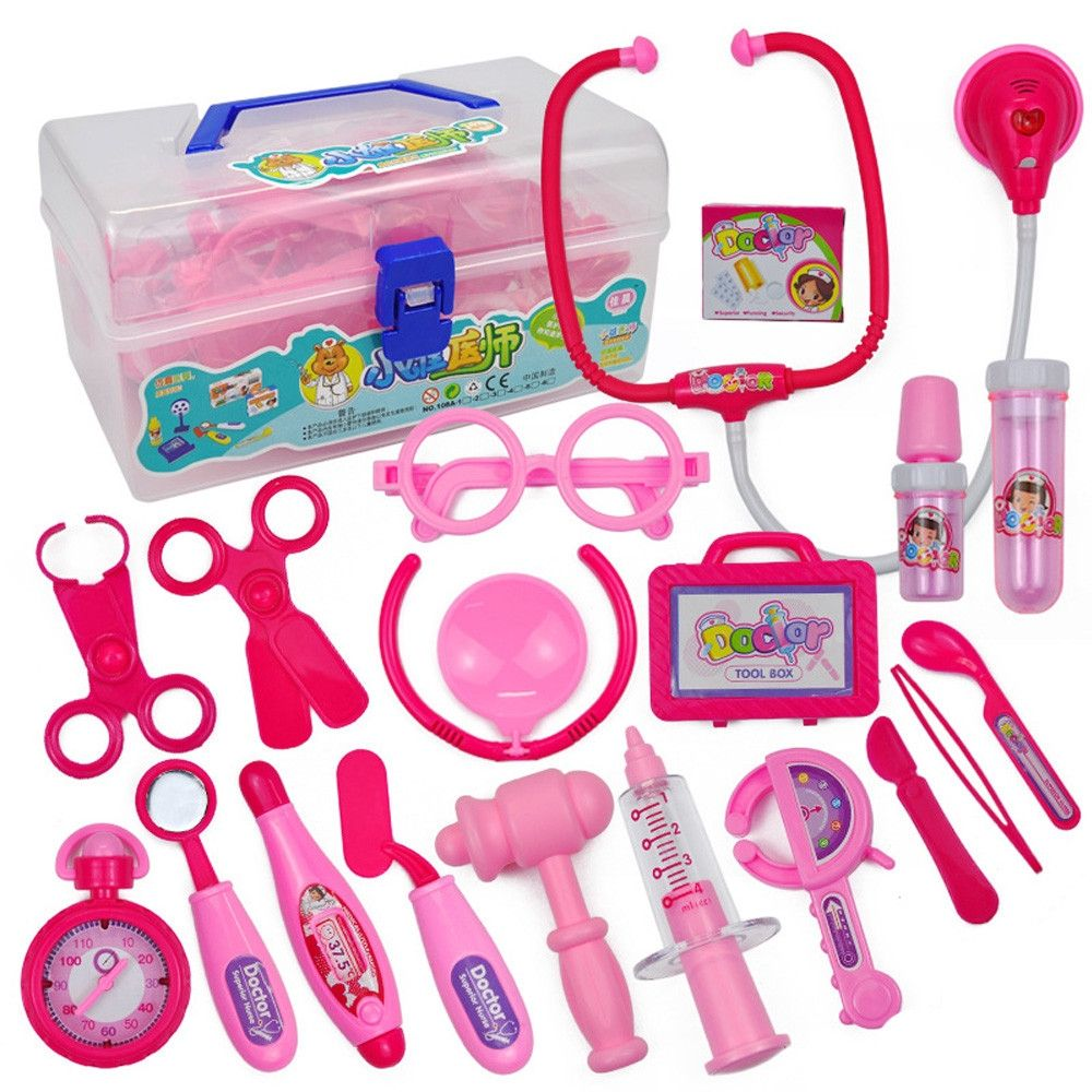 Doctor Nurse Medical Carry Case Pretend Role Play Toy For Children Kids 1 Set