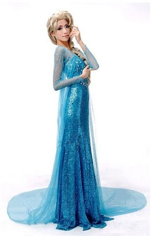 Women Frozen Dress Elsa Anna Princess Girls Halloween Party fancy Costume