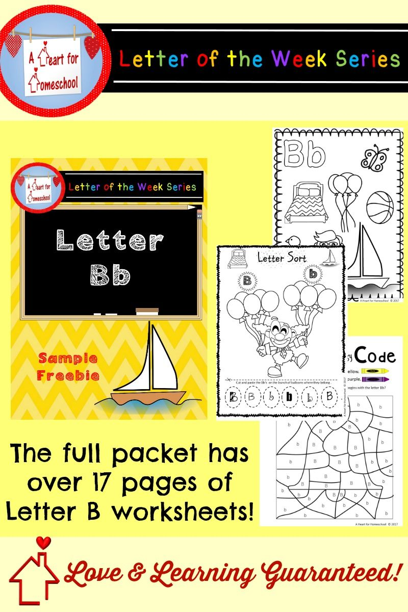 Letter B Sample Freebie  Homeschool Homeschool Kindergarten And