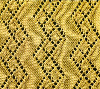Diamond Zig Zag Lace Pattern Chart Knitting  Knitting And