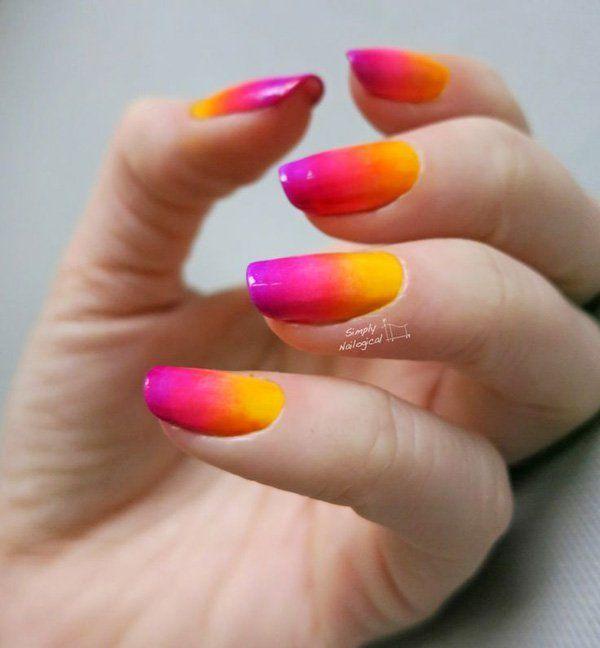 40 Fabulous Gradient Nail Art Designs Nails Pinterest Nail Arts Nail Art Designs And Nails