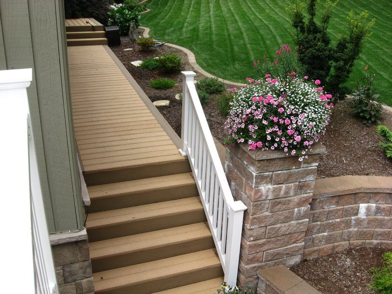 Another Option For The Ugly Concrete Steps Cover Them