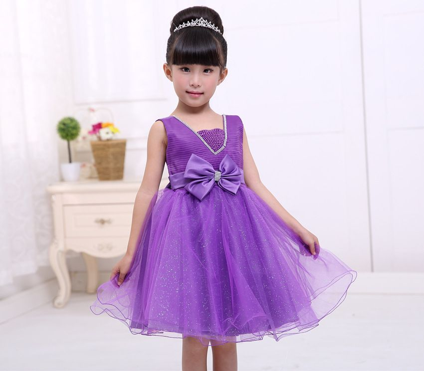 2 to 8Years Baby Girls Clothes Dress Purple Blue Christmas Princess ...