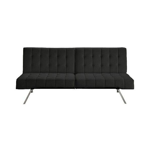 Convertible Sofa Ameriwood Industries Emily Futon Black 156 Liked On Polyvore