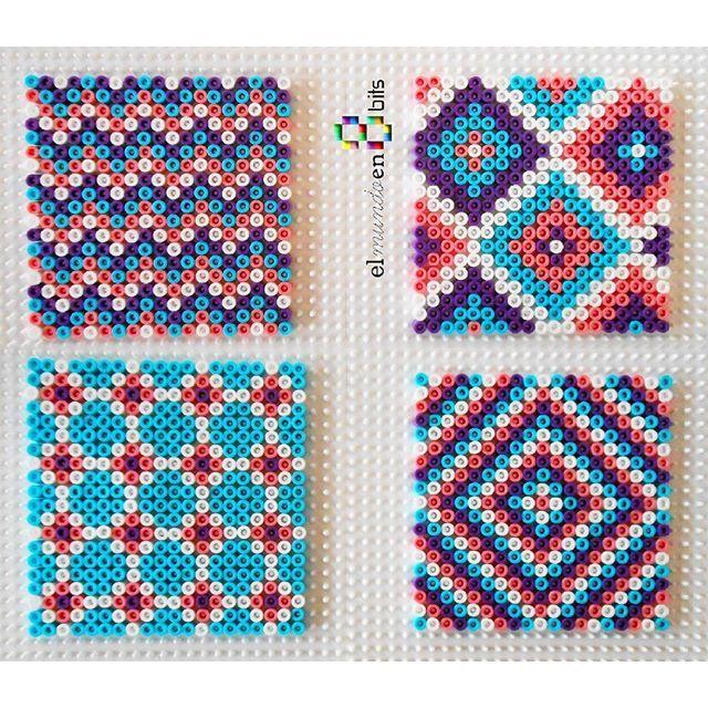 coaster set hama beads by elmundoen8bits pyssla. Black Bedroom Furniture Sets. Home Design Ideas