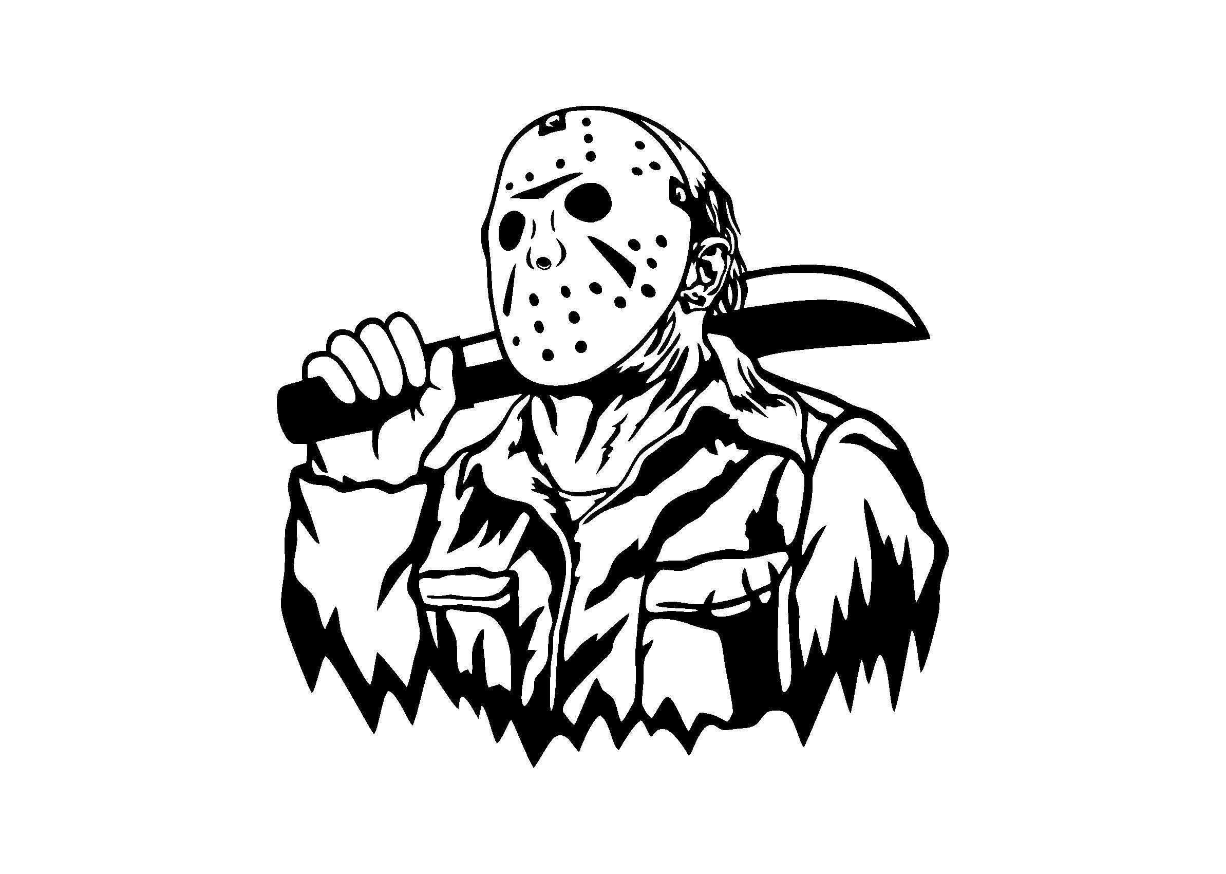 Jason Voorhees Svg Friday The 13th Svg Jason Voorhees Png Etsy In 2021 Horror Art Jason Voorhees Horror