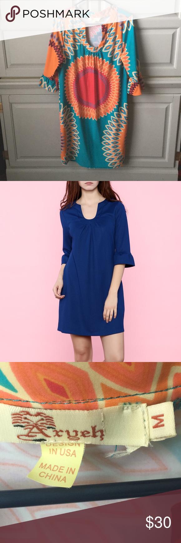 Aryeh 3 4 Sleeve Shift Dress Shift Dress Dresses Aryeh [ 1740 x 580 Pixel ]