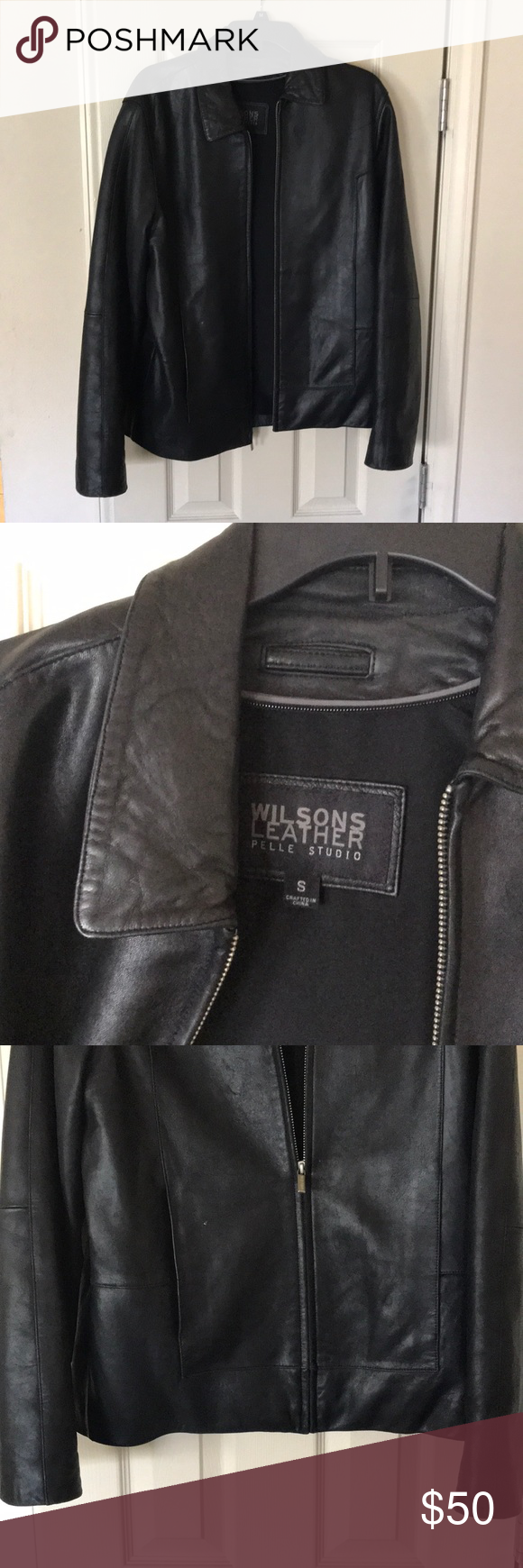 **CLOSE OUT SALE** Men's Wilson Leather Jacket Men's