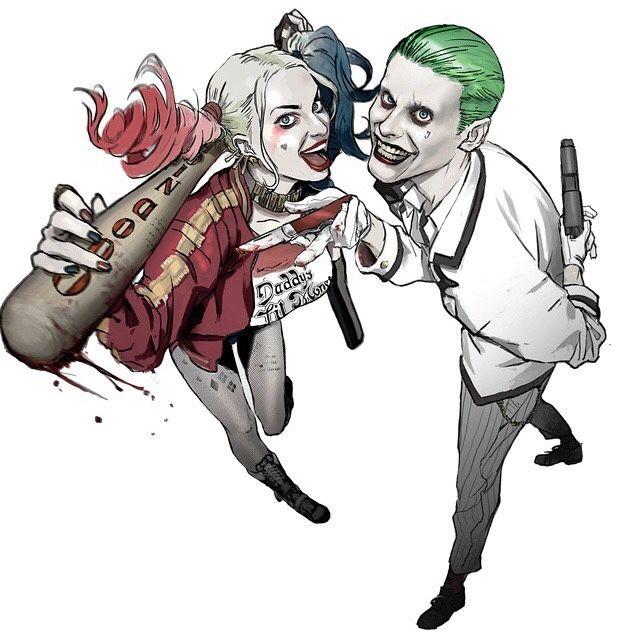 batmans-legacy:  Jared Leto's Joker and Margot Robbie's Harley Quinn