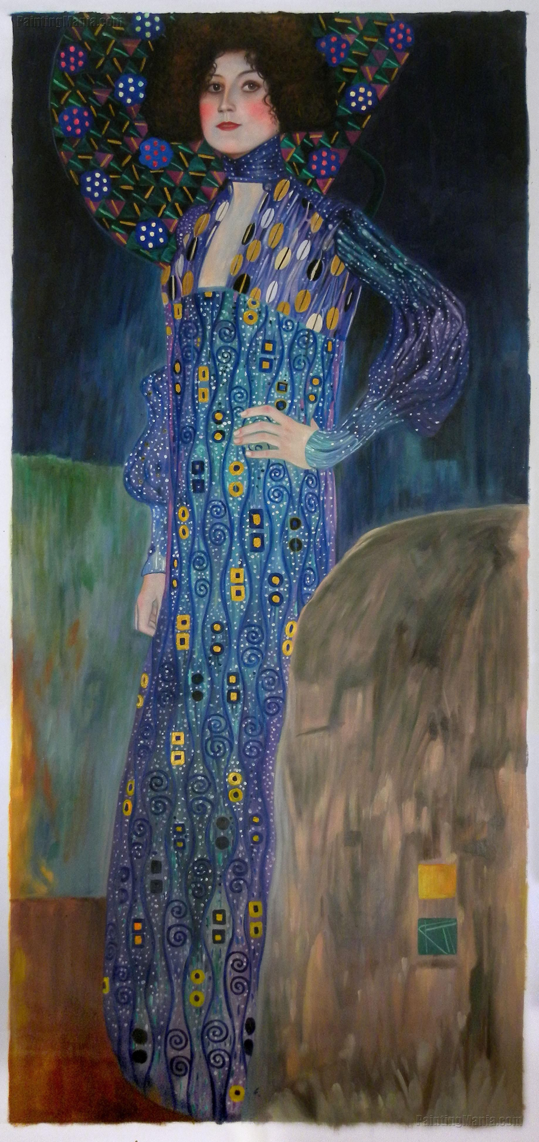Portrait Of Emilie Floge French Impressionists Gustav Klimt Painting