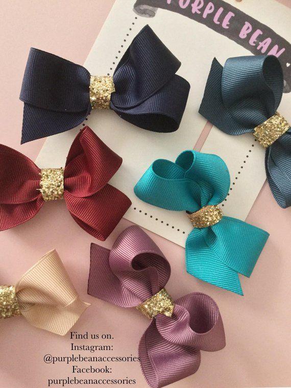 Felt Hair Bows,Mini Hair Bows,Baby Bow Headband,Pigtail Bows,Baby Hair Bows,Toddler Hair Clips,Toddler Hair Bows,Hair Clip Set,Neon Hair Bow