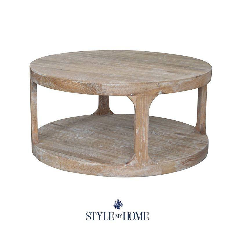 milla' whitewash round coffee table | home: new furniture