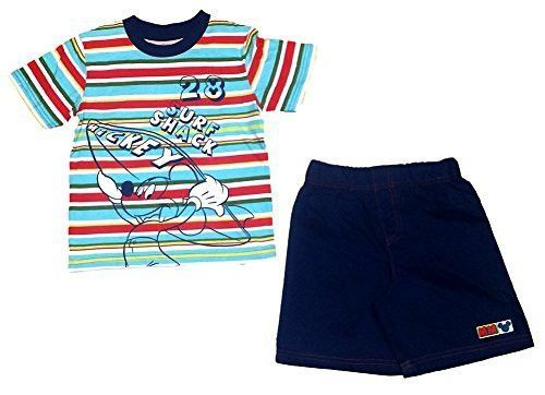 Disney Mickey Mouse Stripe T shirt and Shorts Set