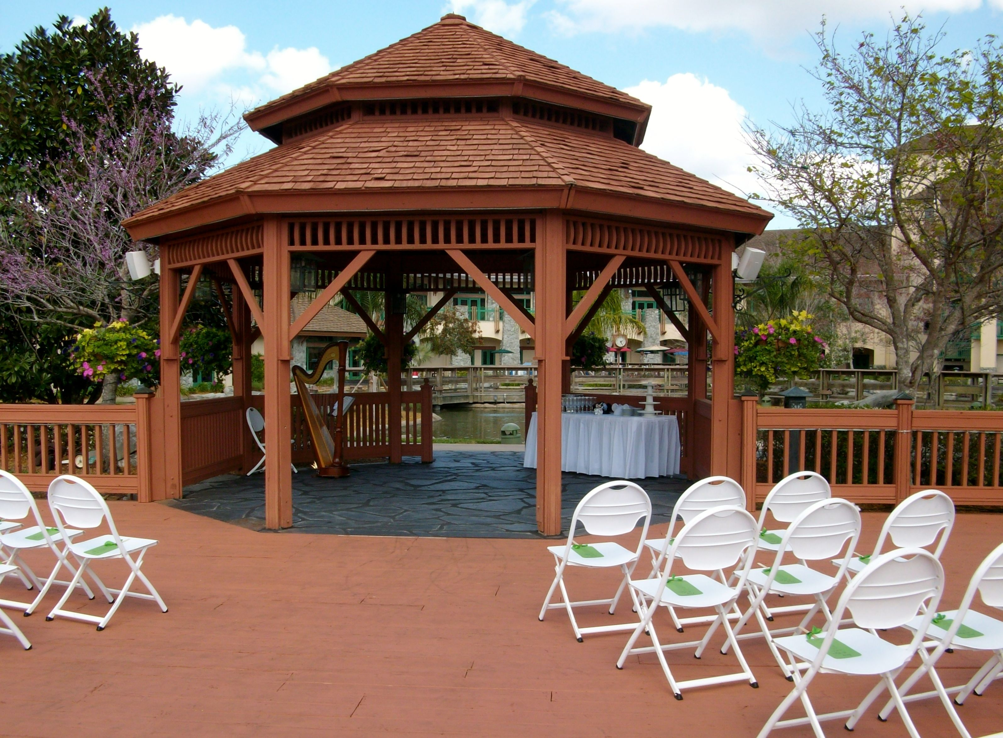 Wedding Gazebo At Shades Of Green, Perfect For An Outdoor