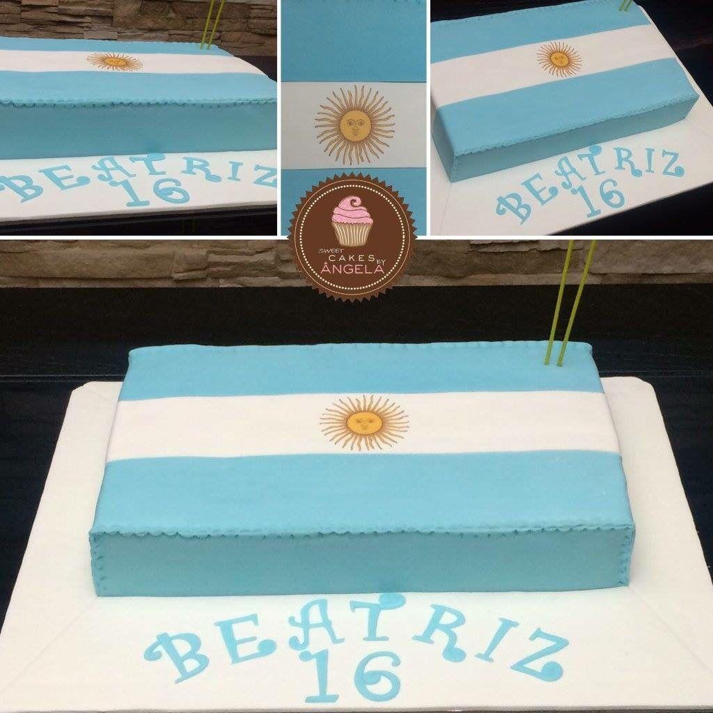 Bolo Bandeira Argentina Bolos Decorados Bolo Bandeira