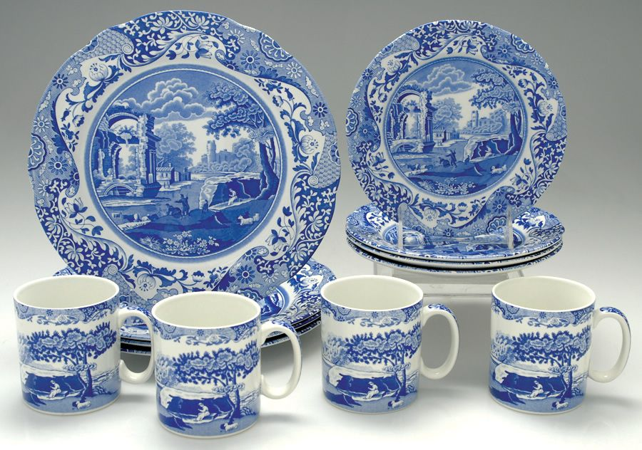 Spode Blue Italian (Newer) 12-Piece Set · Italian PatternWhite PatternsDinnerware ... & Spode Blue Italian (Newer) 12-Piece Set | Blue \u0026 White | Pinterest ...
