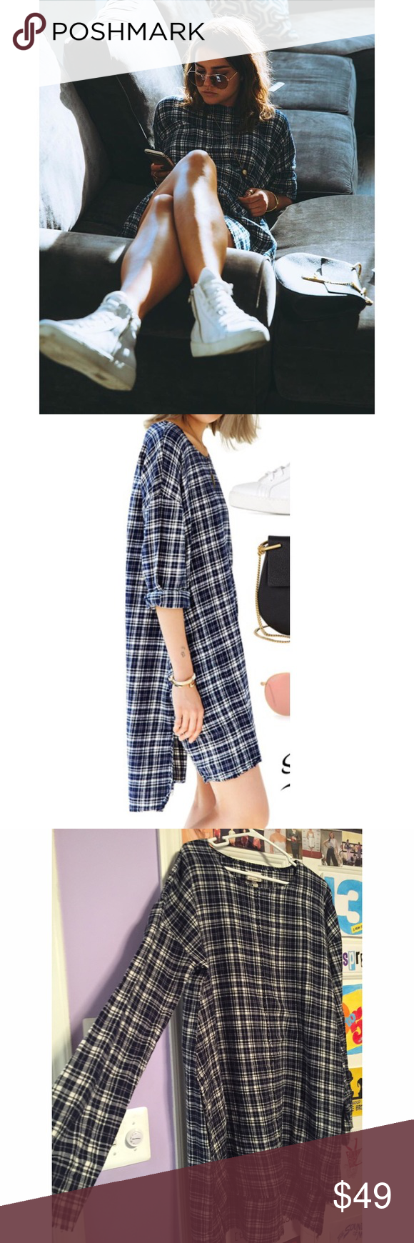 Maia Mitchell Urban Renewal Plaid Flannel Dress As seen on Maia Mitchell. New with tags! Feel free to make an offer! :) Plaid dress made from soft remnant flannel by the reconstruction experts at Urban Renewal. Cut in a fitted pullover. High low. Urban Outfitters Dresses High Low