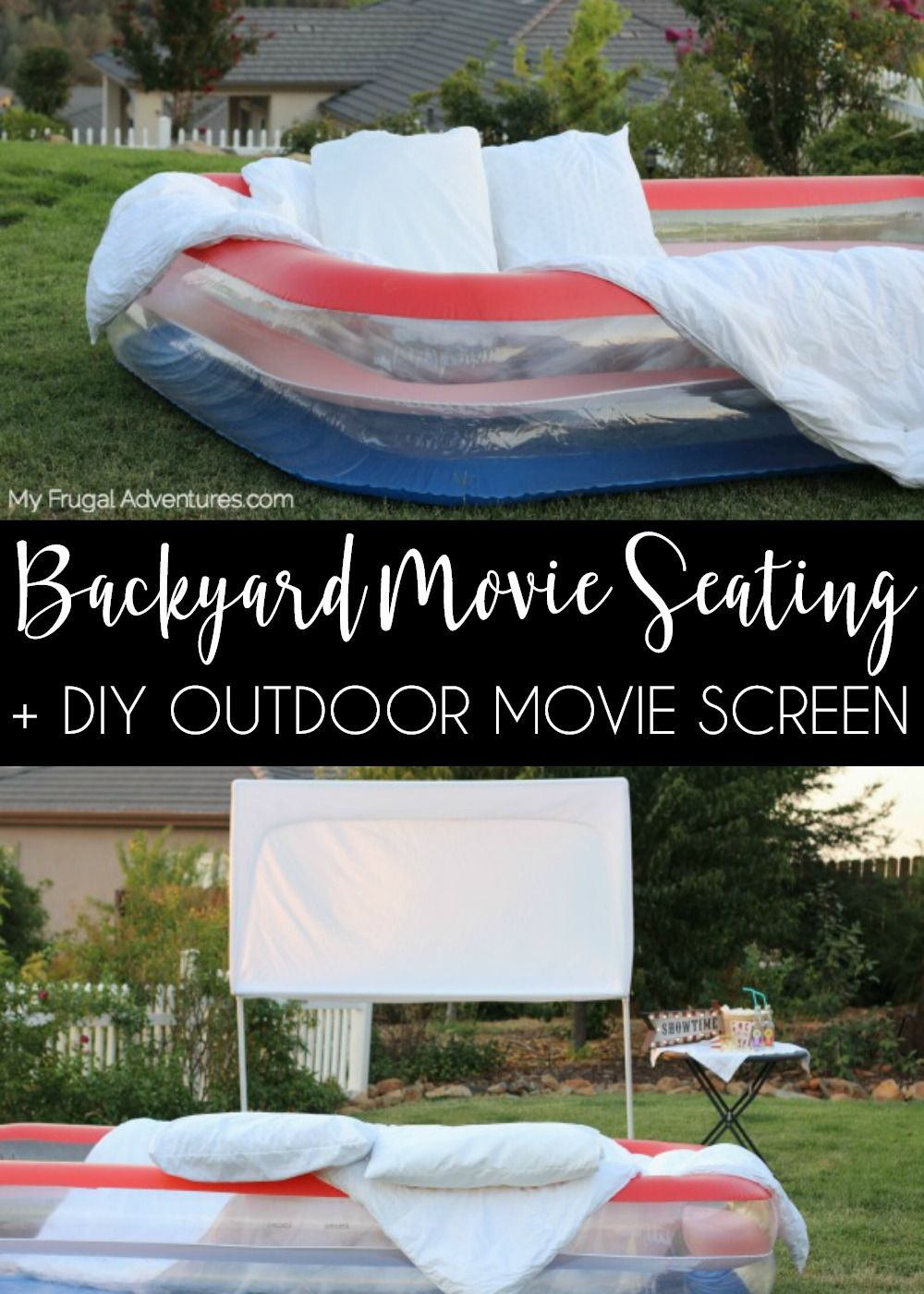How To Build An Outdoor Movie Screen My Frugal Adventures Diy Outdoor Movie Screen Diy Backyard Movie Night Diy Backyard Movie