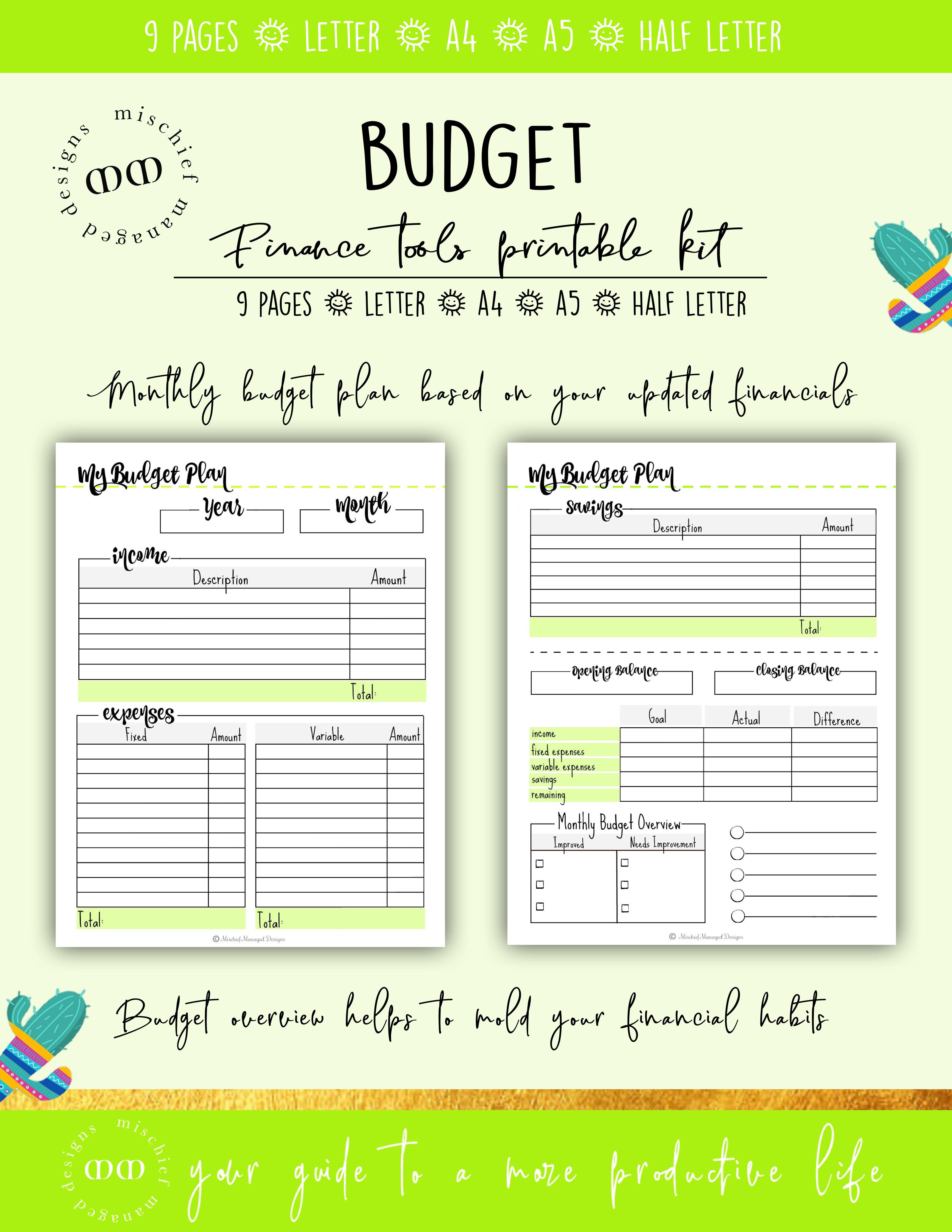 finance planner kit budget tracker bill tracker expense tracker