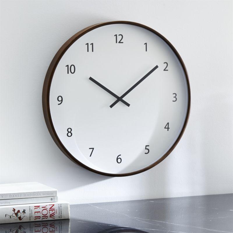 Lorne Large Wall Clock Reviews Crate And Barrel Big