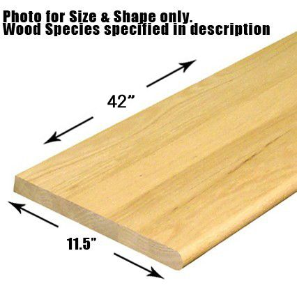 11 1 2 X 42 Bullnosed Stair Tread Wood Stair Treads Stair Treads Cheap Stair Parts
