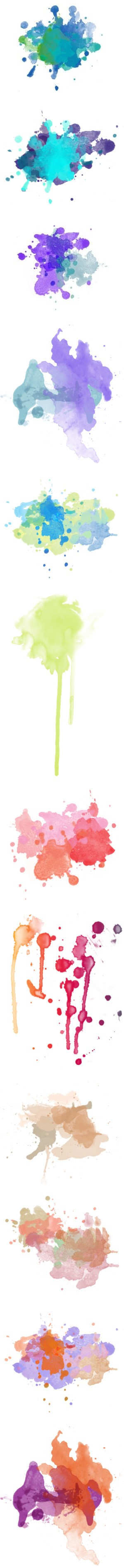 Ink Spalshes by sylandrya on Polyvore featuring splashes, fillers, polypaint, backgrounds, paint splashes, effects, paint, textures, embellishments and doodles