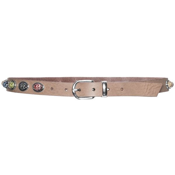 SPA Accessoires Brown Plus Size Leather belt with stone appliqués ($58) ❤ liked on Polyvore featuring accessories, belts, brown, plus size, leather buckle belt, brown belt, round belt, leather belt and round buckle belt