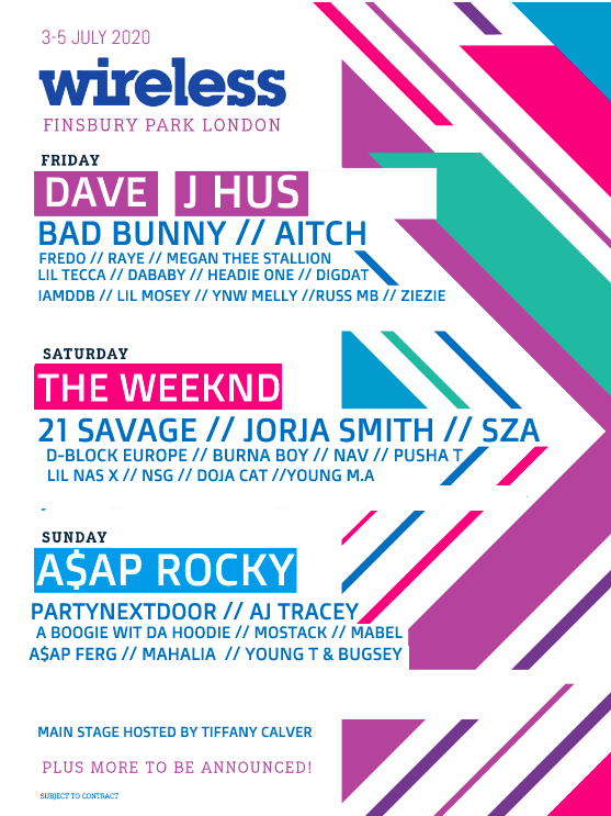 Wireless Festival Have Announced Their Line Up For 2020 And It