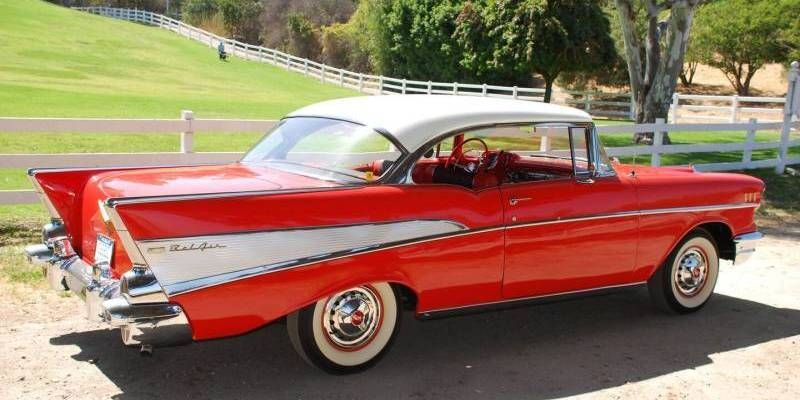 Matador Red 1957 Chevy Bel Air Sport Coupe Chevy Bel Air Sports