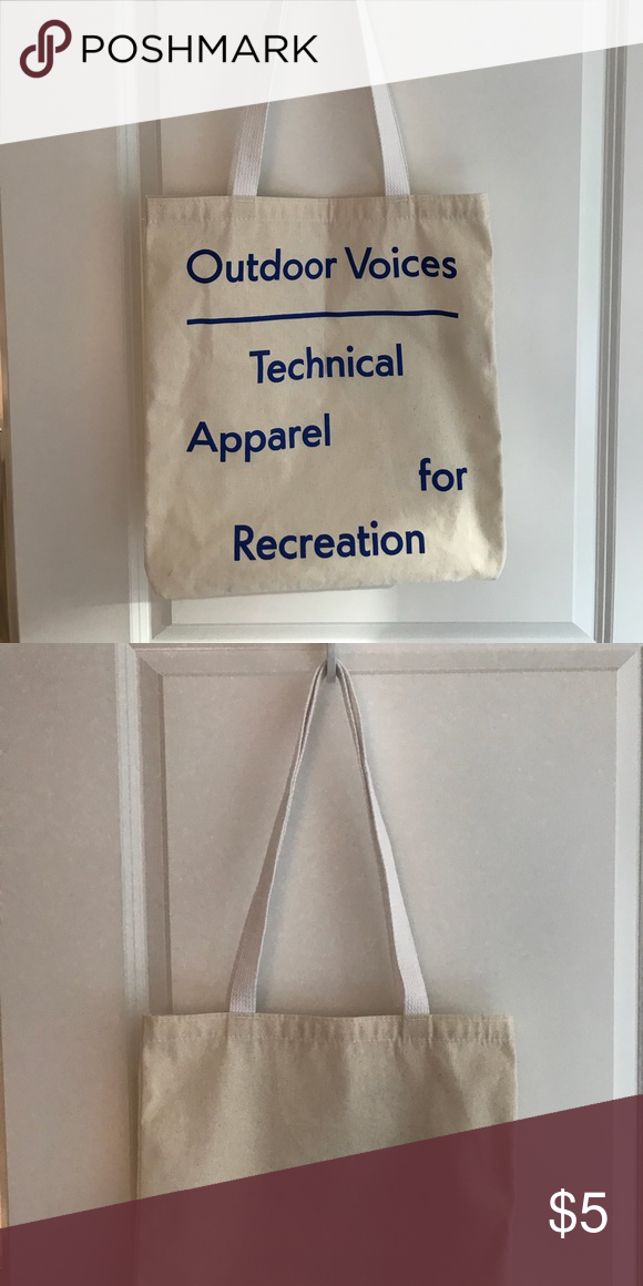 """6aac1c98b1 OUTDOOR VOICES Canvas Tote Bag OUTDOOR VOICES Canvas Tote Bag """"Technical  Apparel for Recreation"""" Outdoor Voices Bags Totes"""