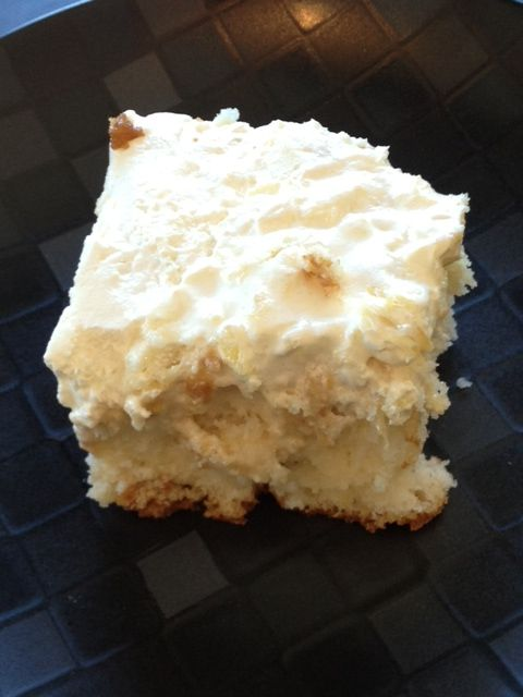 1 Box White Cake Mix 1 Can Cream Of Coconut Coco Lopez 1 Can Sweetened Condensed Milk 1 8 Oz Tub Wh Coconut Recipes Quick Easy Desserts Delicious Desserts