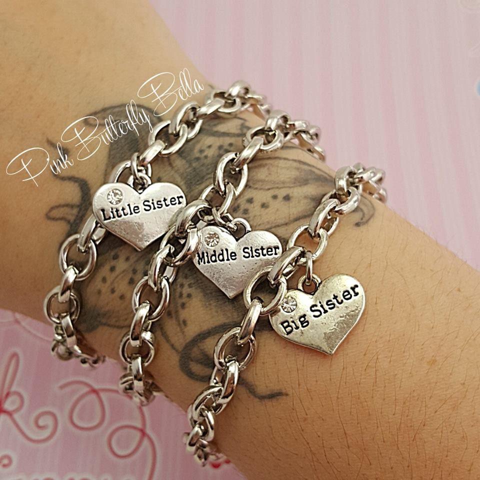Little, Middle, & Big Sister Charm Bracelet