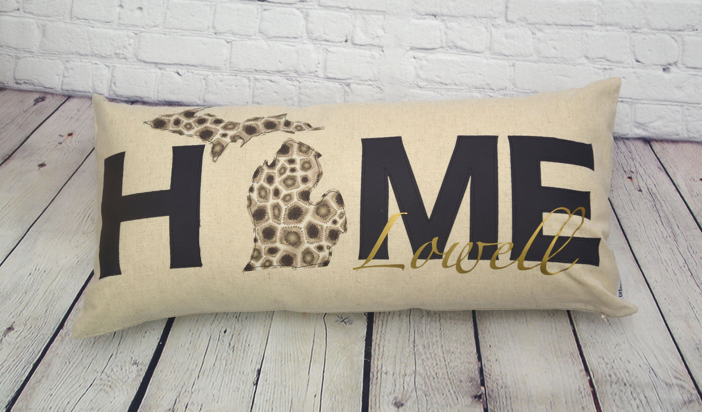 Home love michigan lumbar pillow pure michigan 12 x 24