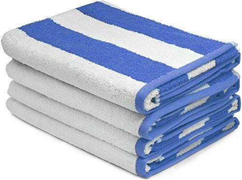 12 new white// blue cotton hotel  30x60 cabana towels pool towel beach towel 12#