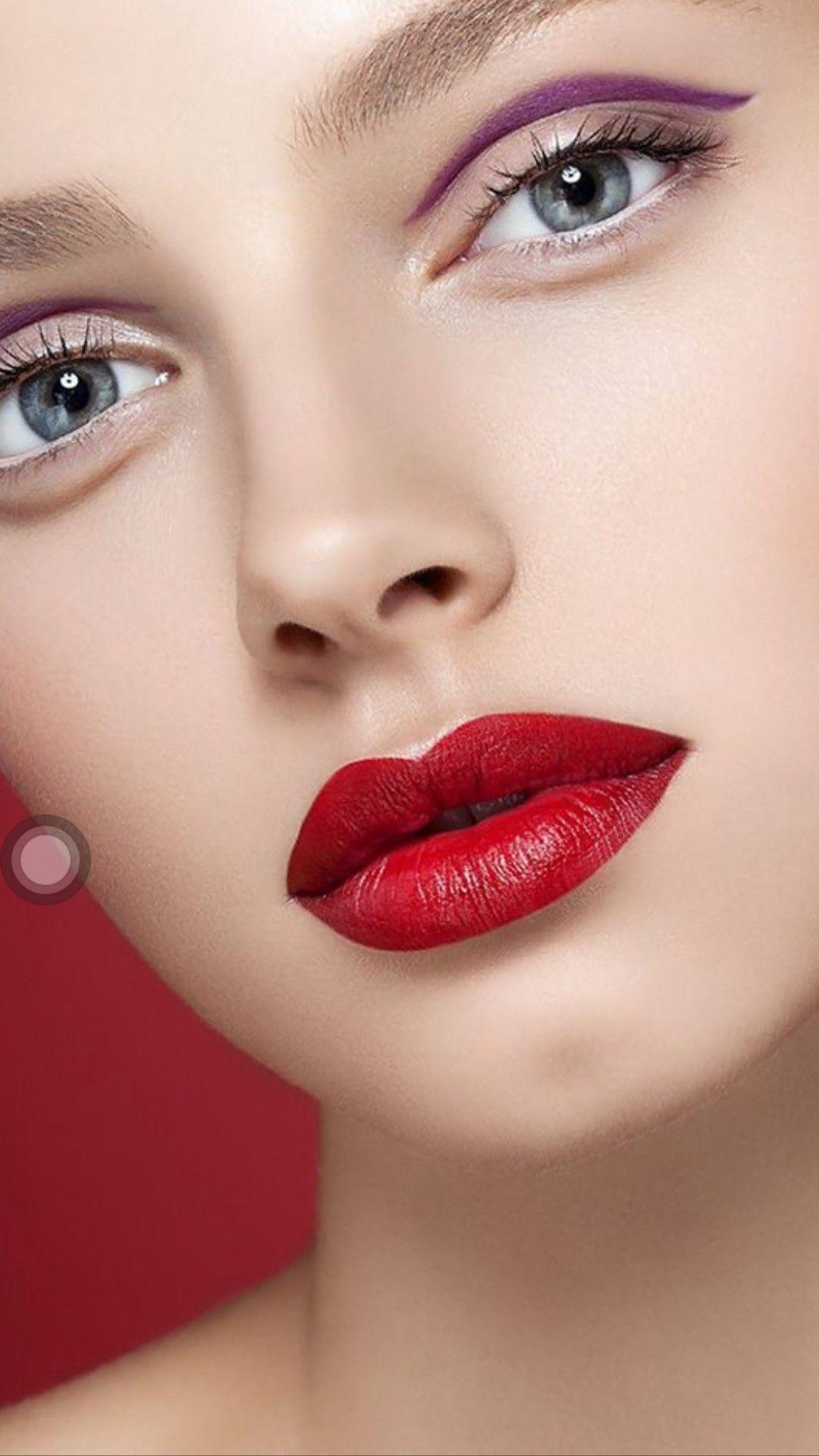 Pin By Catsua Watanabe On Beauty Beautiful Lips Perfect Red Lips Eye Makeup
