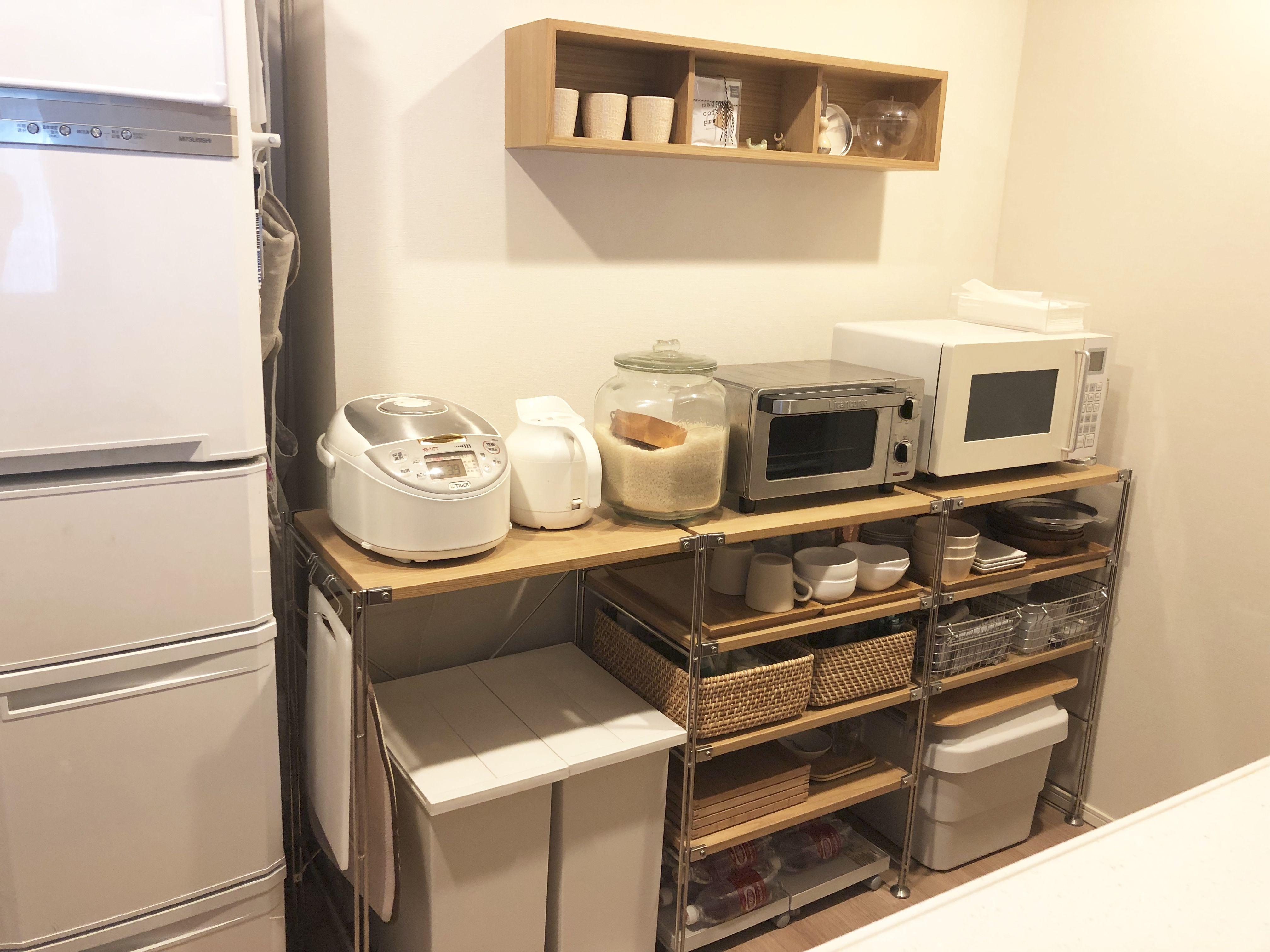 無印良品 ステンレスユニットシェルフでキッチン収納 ここから