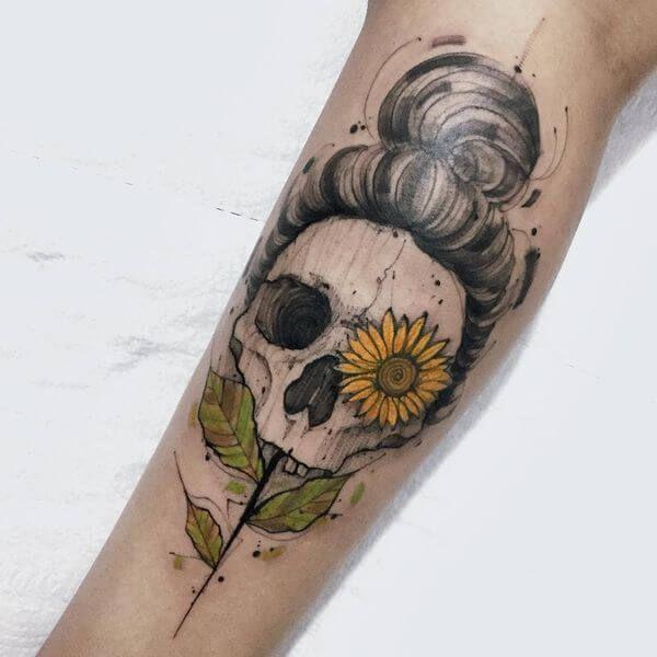 Photo of 50 sunflower tattoos for women – tattoo designs – 50 sunflower tattoos for …